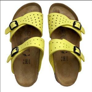 Birkenstock Birkis Yellow Freeport 2 Strap Sandals